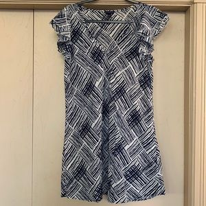 Banana Republic Lightweight Navy Pattern Dress